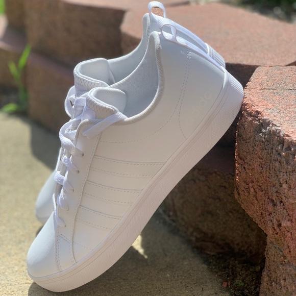 Adidas Grand Court White Sneakers Sz